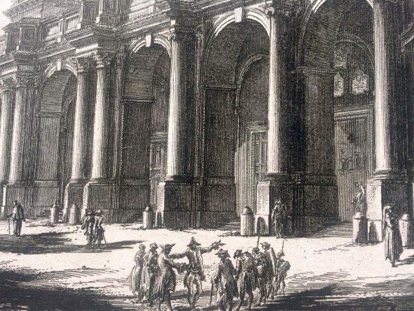 Estampe PIRANESI - Veduta della basilica di S. Paolo fuor delle mura rome