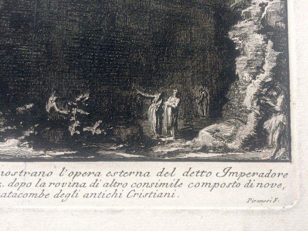 Estampe PIRANESI - Veduta della basilica di S. Paolo fuor delle mura signature