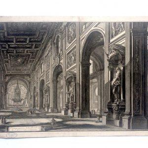 Estampe Piranesi – Veduta interna della Basilica di S Giovanni Laterano
