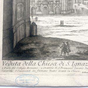 Estampe de Barbault et Montegu – Veduta della Chiesa di S.Ignazio