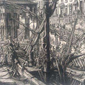 Estampe de Piranesi – Veduta del Porto di Ripa Grande