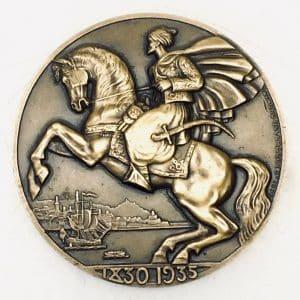 Médaille de bronze – Compagnie Générale Transatlantique – ville d'Alger 1935