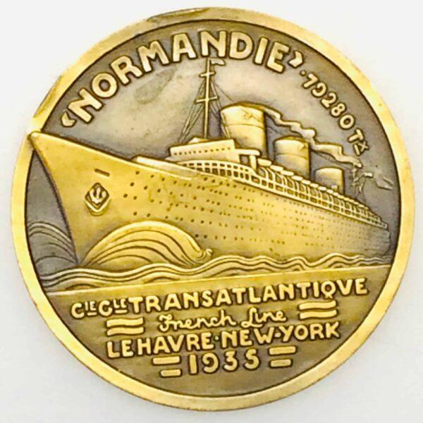 Médaille de bronze - Compagnie Générale Transatlantique - Normandie