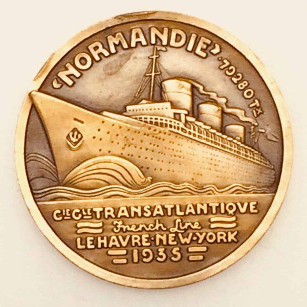 Médaille de bronze - Compagnie Générale Transatlantique - Normandie 1935