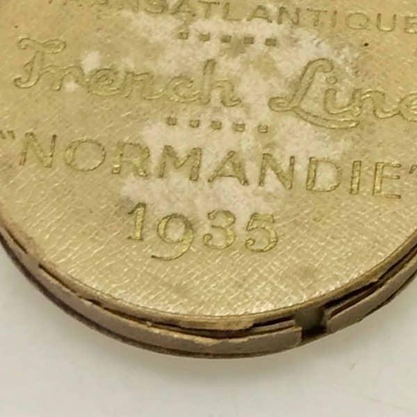 Médaille de bronze - Compagnie Générale Transatlantique - Normandie 1935 boite