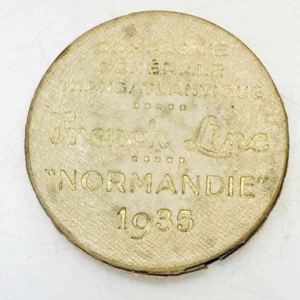 Médaille de bronze - Compagnie Générale Transatlantique - Normandie boite