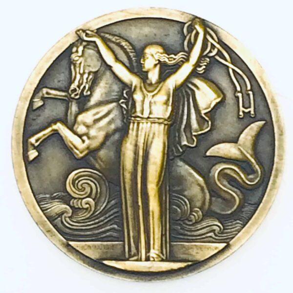 Médaille de bronze - Compagnie Générale Transatlantique - Normandie french line