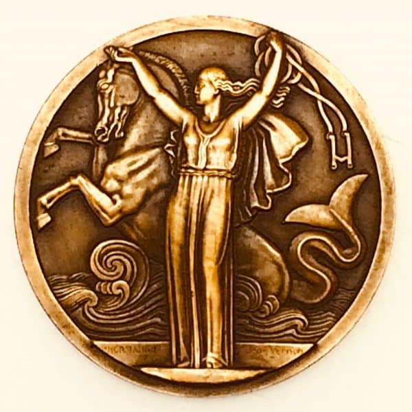 Médaille de bronze - Compagnie Générale Transatlantique - Normandie revers