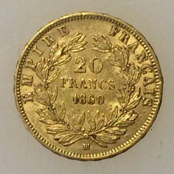 Napoléon III - 20 francs OR 1860