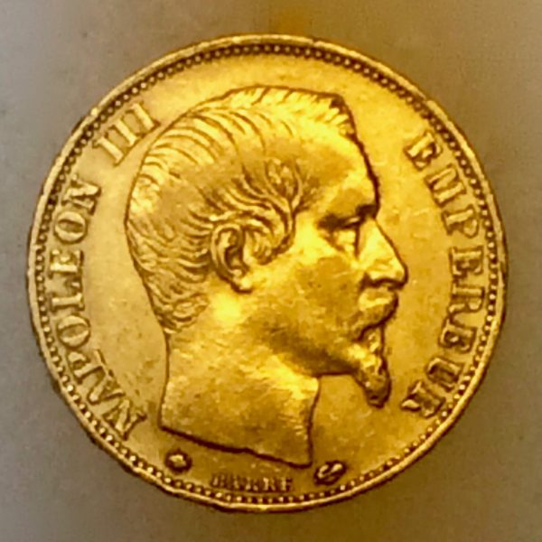 Napoléon III - 20 francs OR de 1860 empire