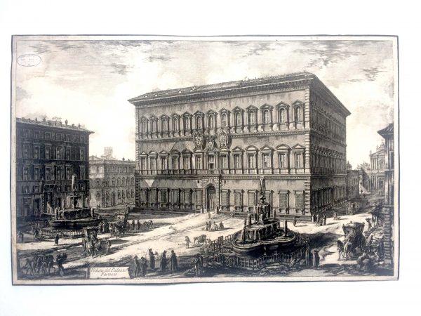 Veduta del palazzo FARNESE estampe Piranesi 2