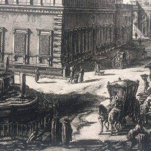 Estampe PIRANESI – Veduta del palazzo FARNESE