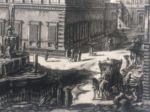 Veduta del palazzo FARNESE estampe Piranesi détails