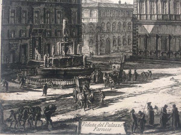 Veduta del palazzo FARNESE estampe Piranesi fontaine