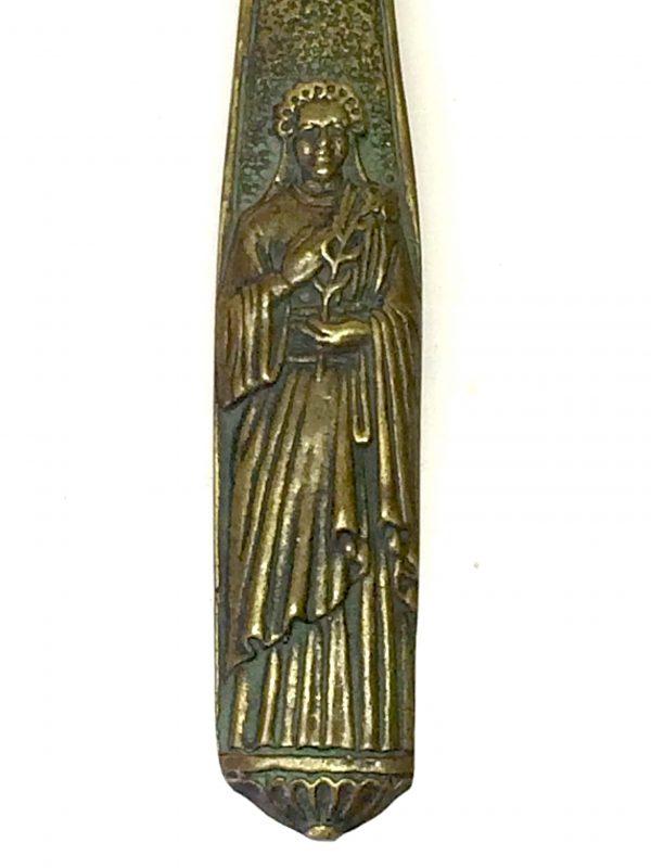 Vierge en bronze par max le verrier