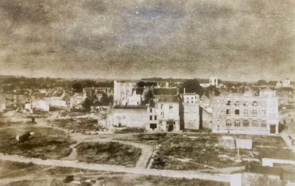 Abbeville, bombardé pendant la seconde guerre mondiale.