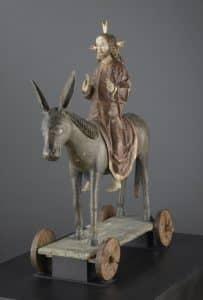 christ des rameaux sur son âne.