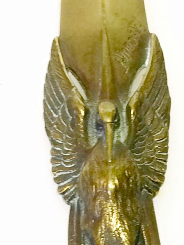 coupe papier bronze oiseau cigogne frecourt