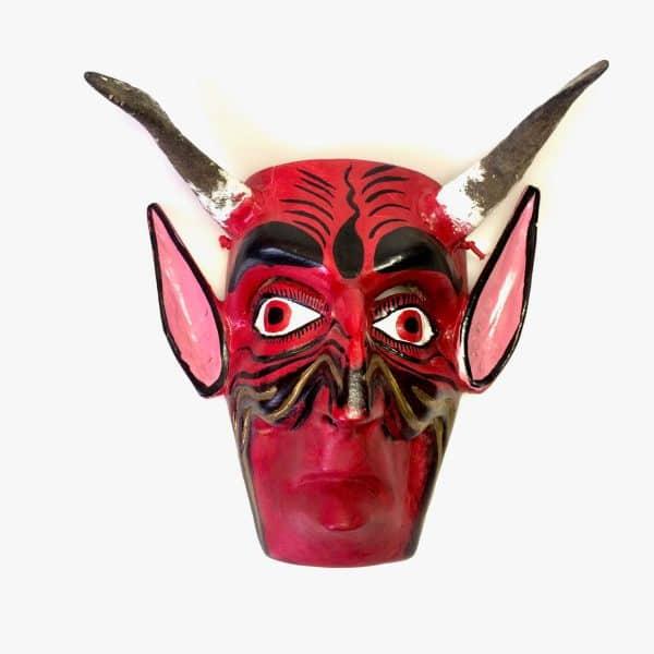 masque de diable rouge