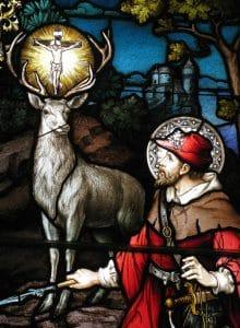 Saint Hubert et cerf crucifer.