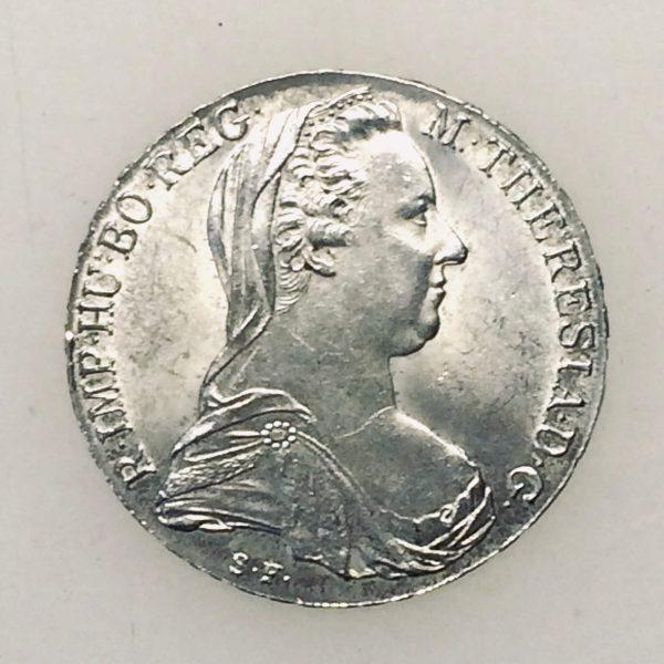thaler Marie Thérèse - monnaie d'argent 1780 avers