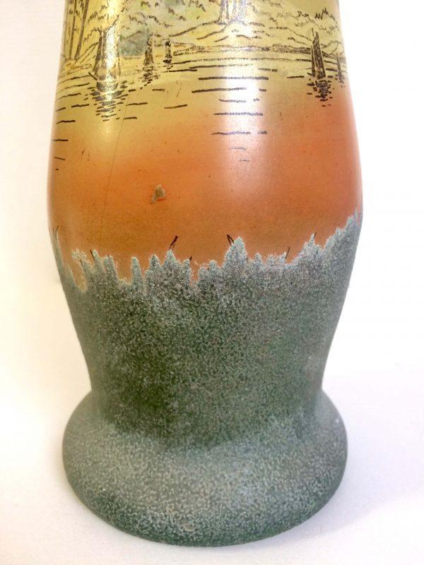 vase legras art nouveau décor lacustre