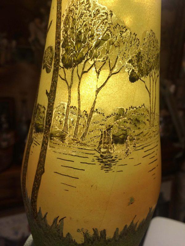 vase legras art nouveau détail soliflore