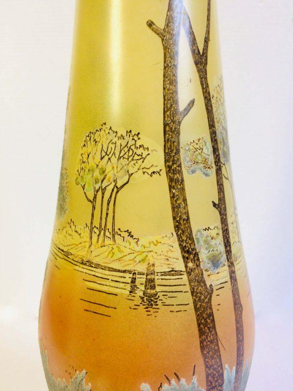 vase legras soliflore en verre art nouvea