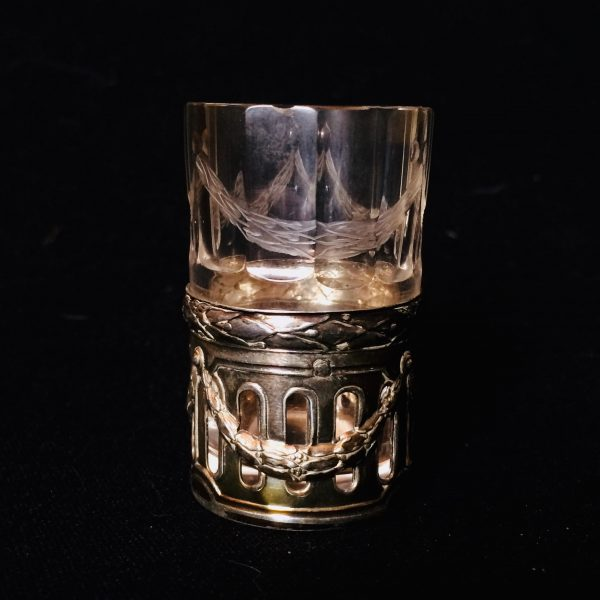 verre à liqueur argent minerve solo