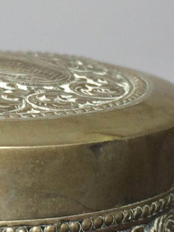 Boite argent T900 couvercle