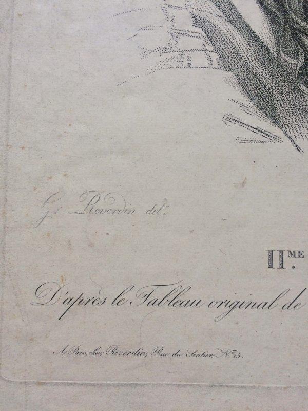 Estampe – Étude d'ange – tableau originale de LE BRUN signature reverdin