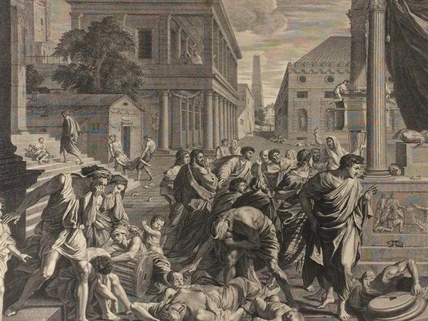 Estampe de Nicolas Poussin - La Peste d'Asdod