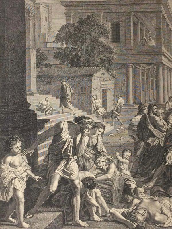 Estampe de Nicolas Poussin - La Peste d'Asdod enfants