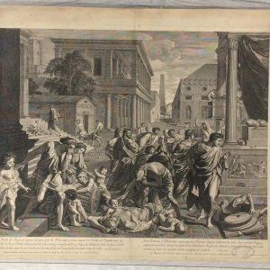 Estampe de Nicolas Poussin – La Peste d'Asdod