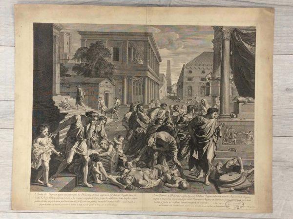 Estampe de Nicolas Poussin - La Peste d'Asdod grandformat