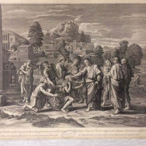 Estampe de Nicolas Poussin - Les aveugles de Jéricho