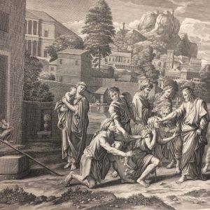 Estampe de Nicolas Poussin – Les aveugles de Jéricho