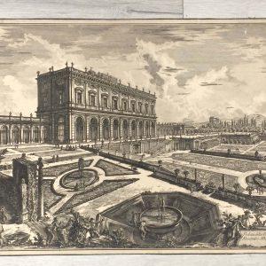 Estampe de Piranesi – Veduta della Villa d'Alesandro Albani