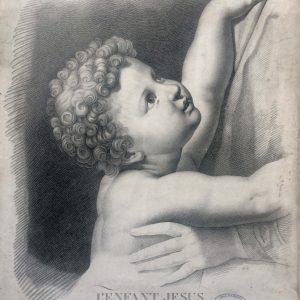 Estampe de l'enfant Jesus – d'après le tableau peint par RAPHAËL
