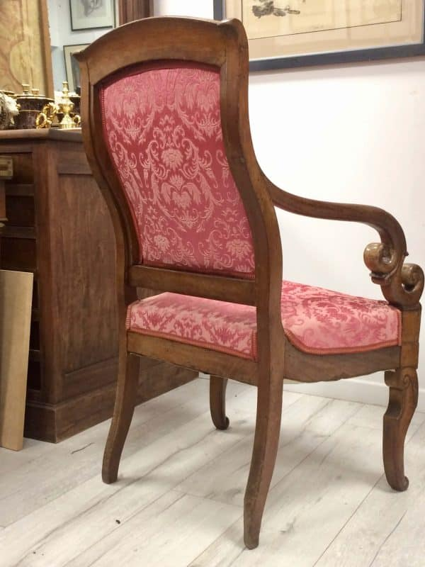 Fauteuil Louis philippe dos