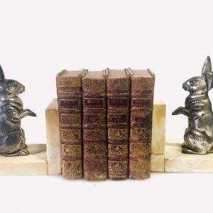 Histoire de l'admirable Don Quichotte de la Manche – Miguel de Cervantes – Livre ancien cuir