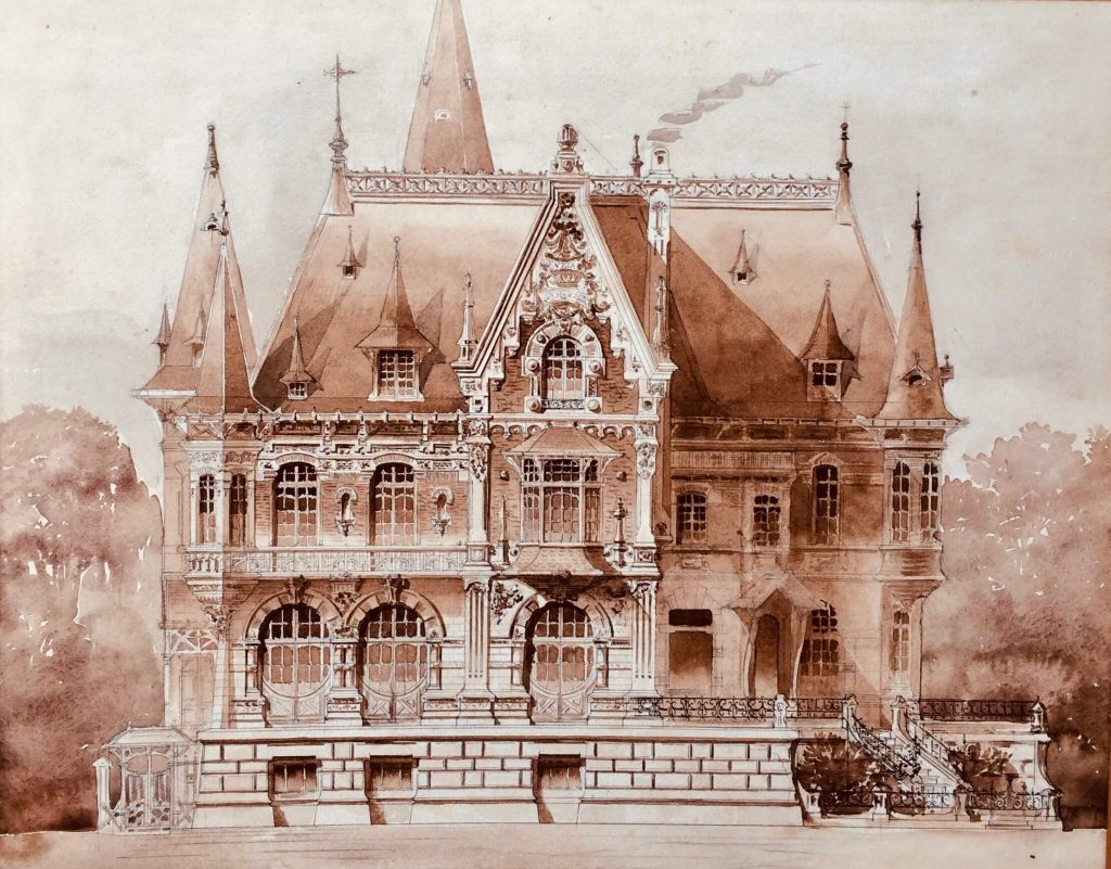 Une belle et grande villa en Picardie, vers 1900.
