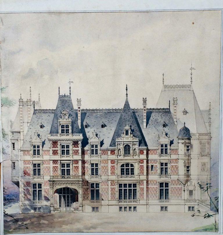 Maisons Amiénoises, dessins d'architecte vers 1900.