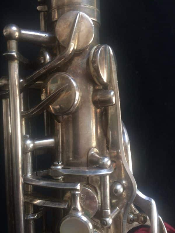 Saxophone Selmer Alto Balanced Action Silver Plated Clef Tampon