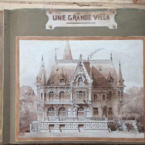 Plan de maison dessin d'architecte – Grande Villa en Picardie – France