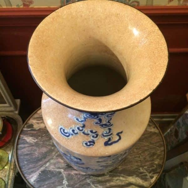 Vase en céramique de Nankin