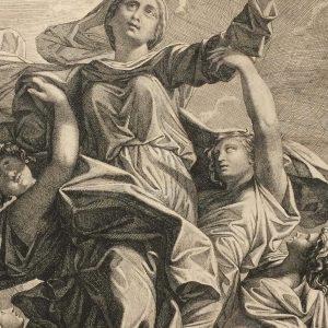 Estampe de Nicolas Poussin – L'Assomption – Jean Pesne
