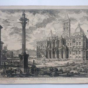 Estampe PIRANESI – Veduta della Basilica di Santa Maria Maggiore