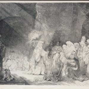 Amand Durand Rembrandt, Présentation de Jésus au Temple, Heliogravure
