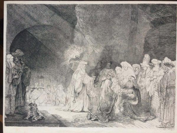 Estampe Rembrandt Presentation De Jésus Au Temple